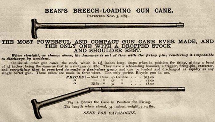 «Показушные» трости с пистолетами и шпагами.