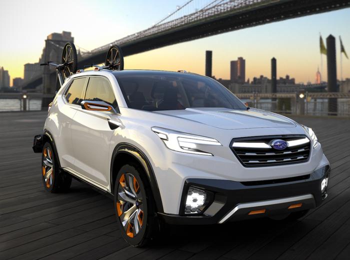 Subaru Viziv - умный коцепт для активных людей.