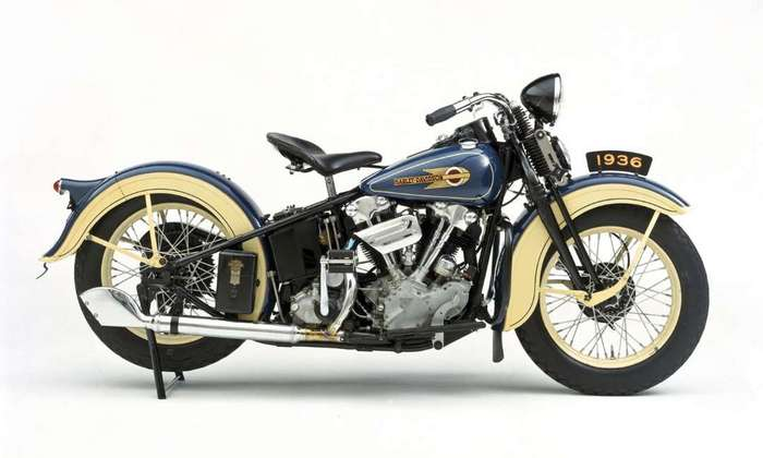 Мотоцикл 1936 Harley-Davidson EL.