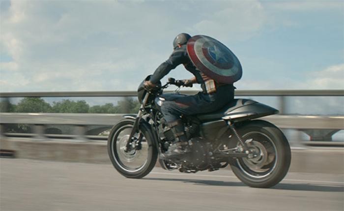 Мотоцикл Капитана Америки.