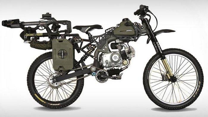 Motoped Survival Bike - спасение от зомбиапокалипсиса.