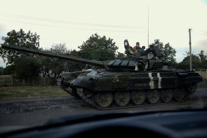 Тактическая раскраска свой-чужой на Т-72. |Фото: projects.lb.ua.