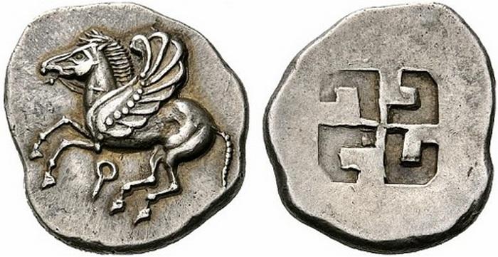 Монета из Коринфа.