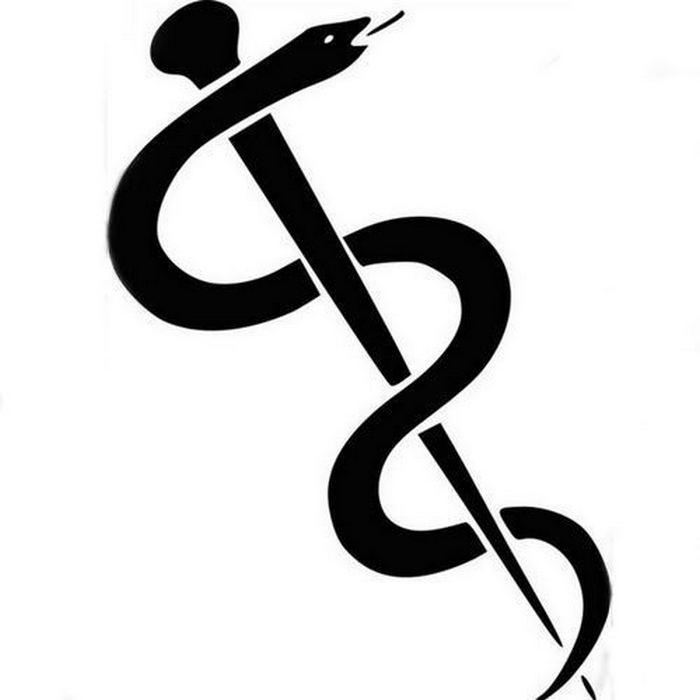 Символ «Посох Асклепия».