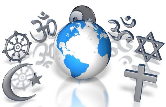 Символы основных мировых религий.