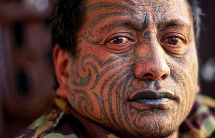 Та-моко - татуировки маори.