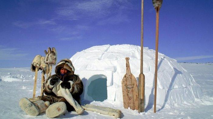 Снежный домик эскимоса.