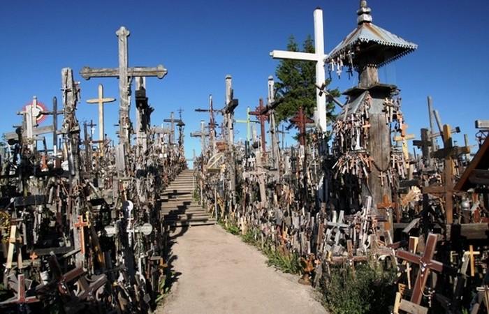 Жуткое место: гора Крестов.