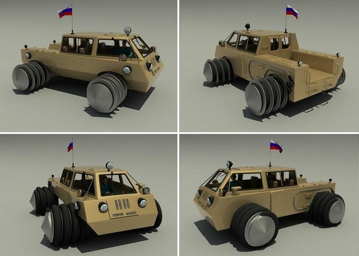 3-D модель российского вездехода TESH.