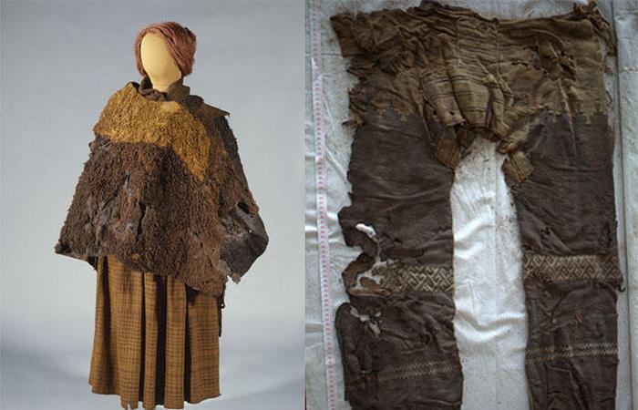 Контрастные клетчатые наряды женщины из Хюлдремоса.