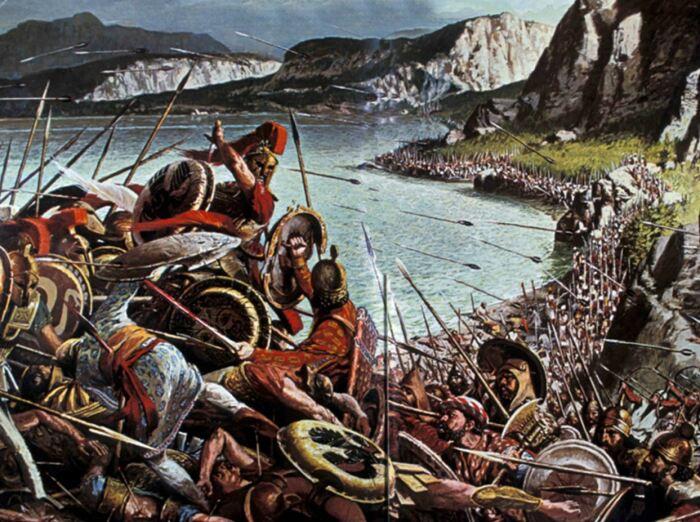 Битва при Фермопилах не спасла Грецию от завоевания. | Фото: thinglink.com.