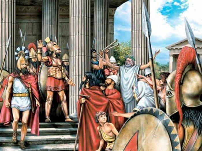Спарта была типичным греческим полисом. | Фото: ppt-online.org.