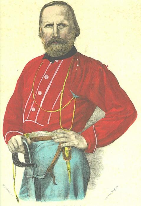 Портрет Гарибальди.