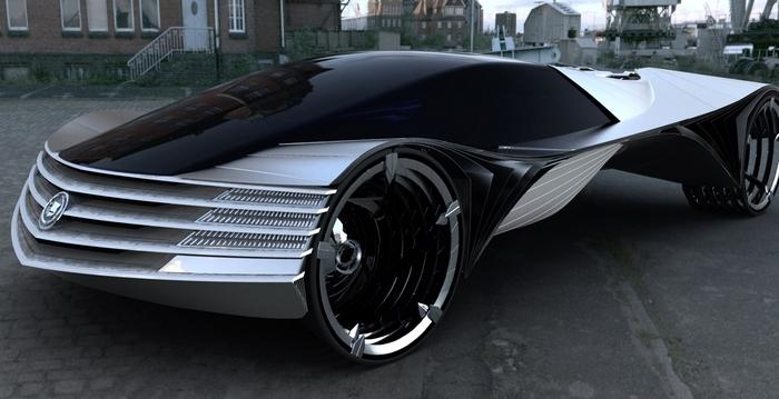 Концепт первого атомного автомобиля.