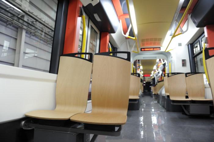 Салон водородного трамвая.