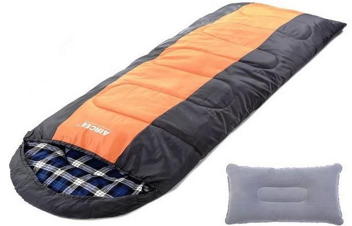 Спальный мешок с капюшоном от Aircee.