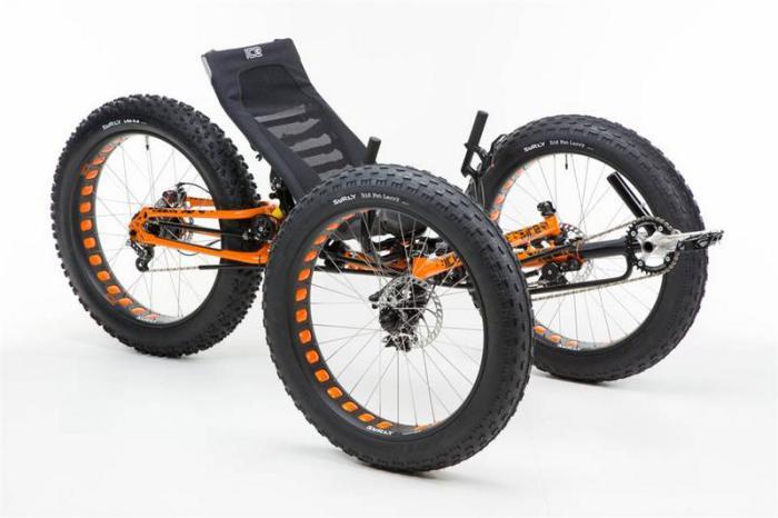 Велосипеде-трициклет для аванюристов.