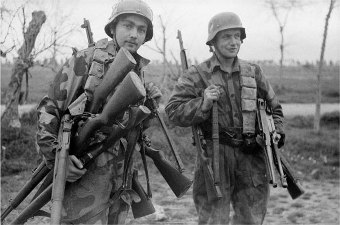 Немецкие солдаты делали все тоже самое. |Фото: reibert.info.
