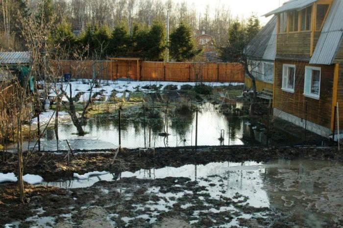 Вода на участке - это беда. |Фото: banya-expert.com.
