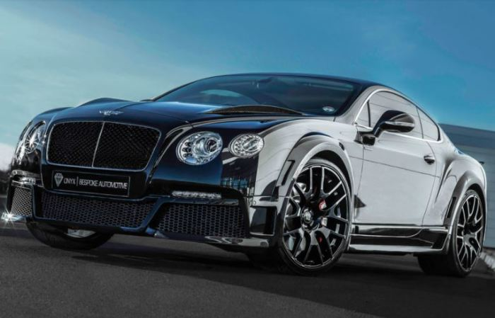 Bentley Continental очень популярен у тюнеров.