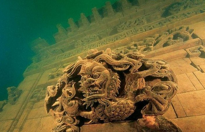 Город Льва в озере Циндао и другие подводные города.
