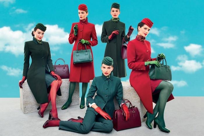 Униформа сотрудников «Alitalia».