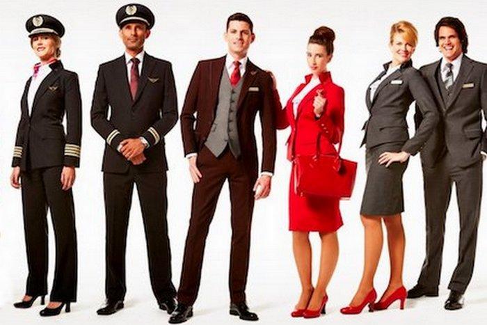 Униформа сотрудников «Virgin Atlantic».