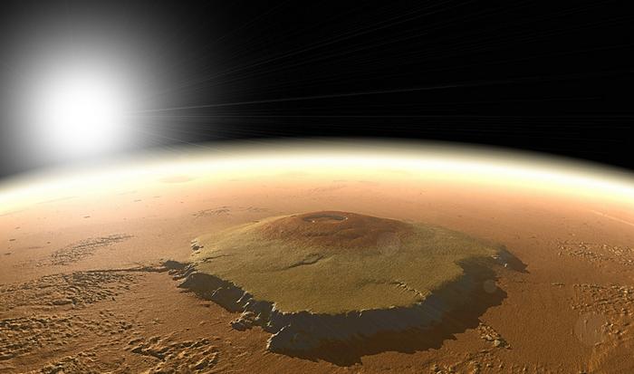 Интересный факт о Вселенной: марсианский Олимп.