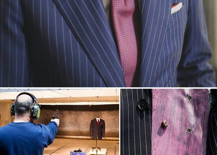 Крепкая вещь: бронированный деловой костюм от Гаррисона Беспоука.