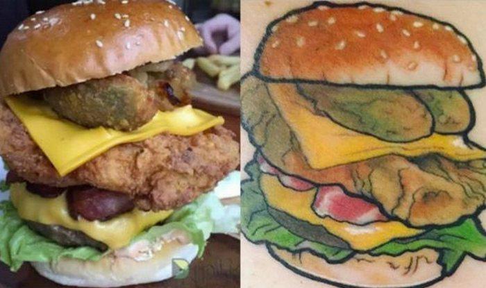 Странное предложение: бургер за татуировку бургера.