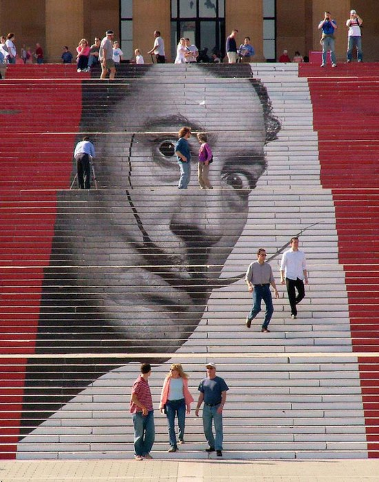 Необычная лестница к Музею искусств в Филадельфии.