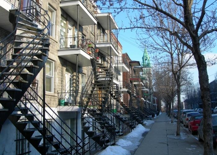 Необычные лестницы Монреаля.