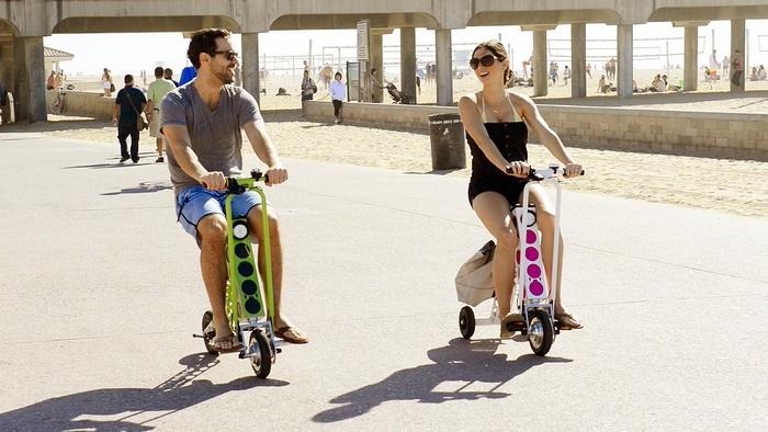 Компактный электрический скутер <B>URB-E</B>: всегда приятные поездки.
