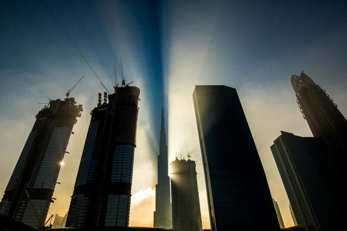 Дубайский Бурдж Халиф - самый высокий небоскреб в мире.
