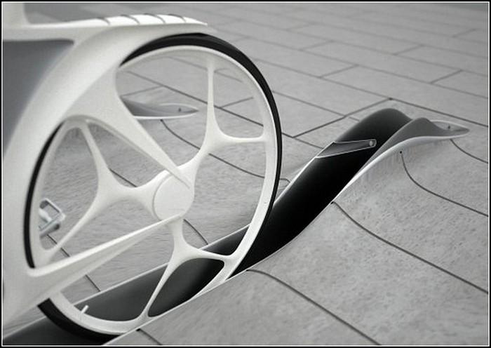 Велопарковка в тротуаре.