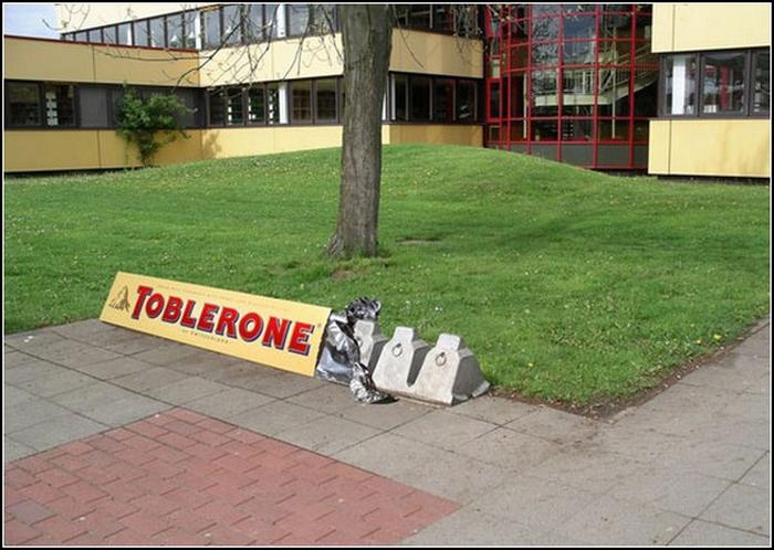 Парковка Toblerone.