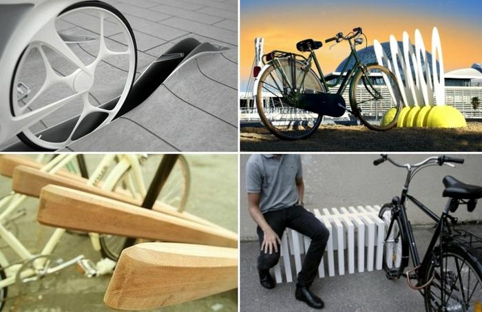 Самые необычные велопарковки.