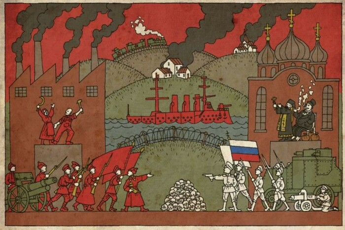 В стране вспыхнула Гражданская война между Красными и Белыми. |Фото: skeptimist.livejournal.com.