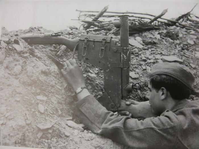 Немецкий вариант перископной винтовки.