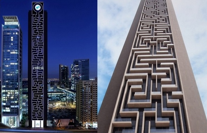 Вертикальный лабиринт в Дубае.