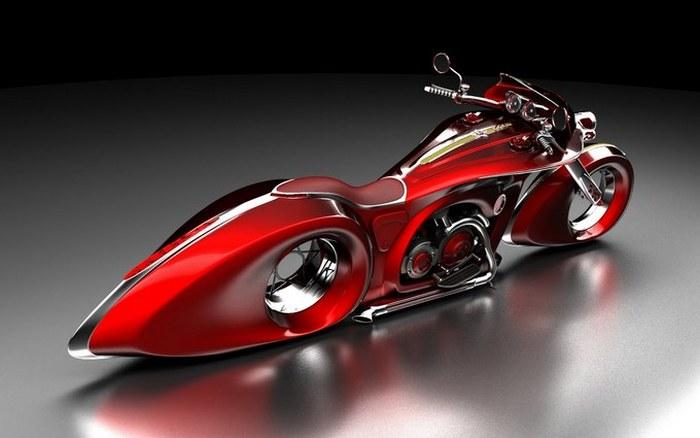 Дух Победы. Мотоцикл в красном цвете.