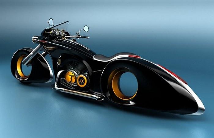 Дух Победы. Мотоцикл в чёрном цвете.