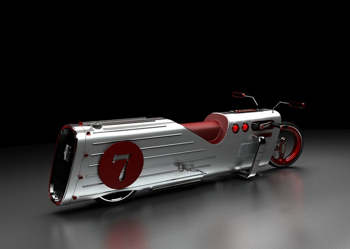 Концепт странного мотоцикла.