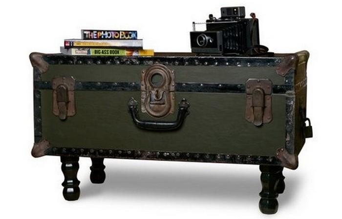 Винтажный предмет: военный сундук.