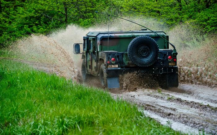 Серьезны машины ничего не боятся.  Фото: w-dog.ru.