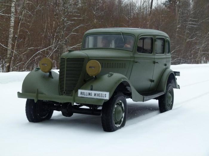 ГАЗ-61 - внедорожник для высшего руководства Красной Армии.