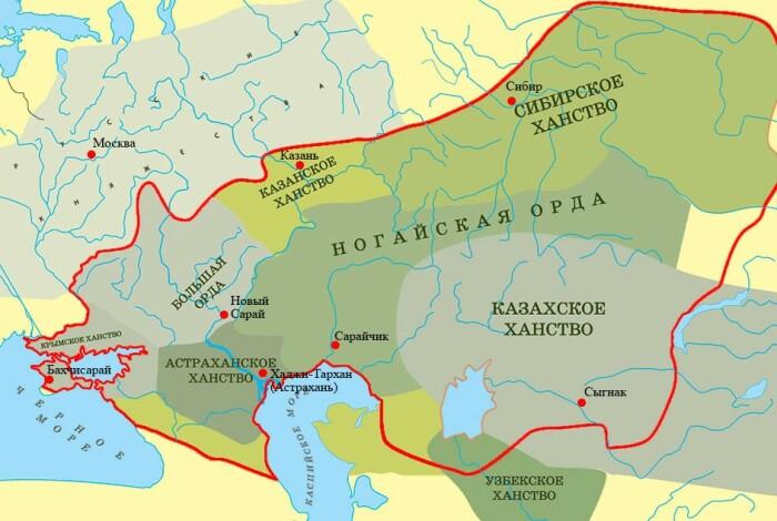 Некогда великая империя рассыпалась на множество беспокойных орд и ханств. |Фото: history-gdz.ru.