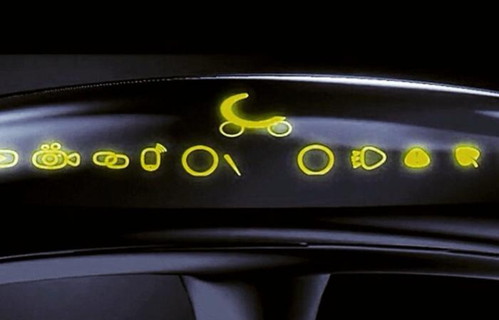 Приборная панель скутера.
