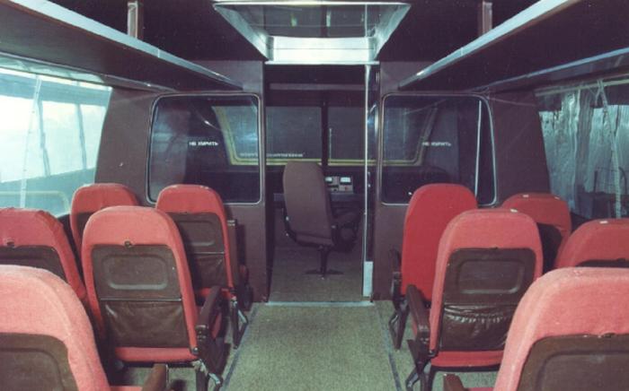 Салон вагона TA-05.