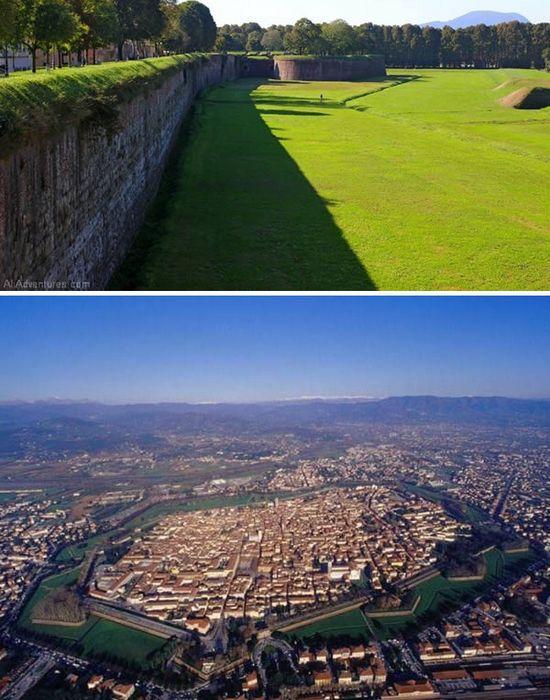 Средневековые стены Луки.